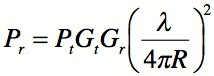 The Friis Transmission Equation